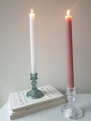 Harlequin Clear Glass Candlestick