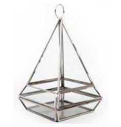 Silver Pyramid Tlight Holder