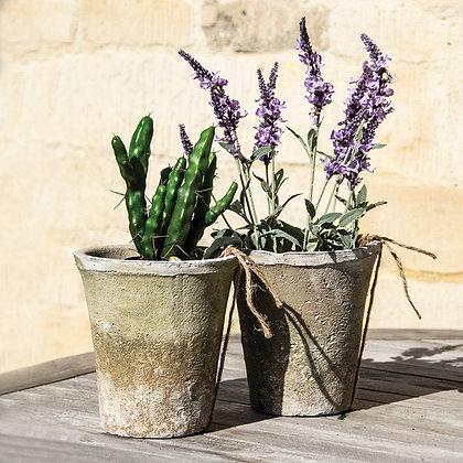 Antiqued Whitestone Planter