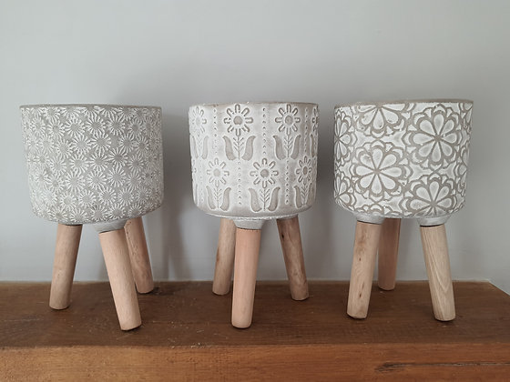 Mini Patterned Planters (3 Styles Available)