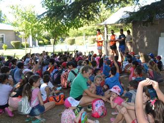Doscientos niños en la Colonia de Vacaciones