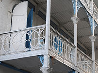 Wrought Iron Balcony in Jacmel, near Coterelle Breeze