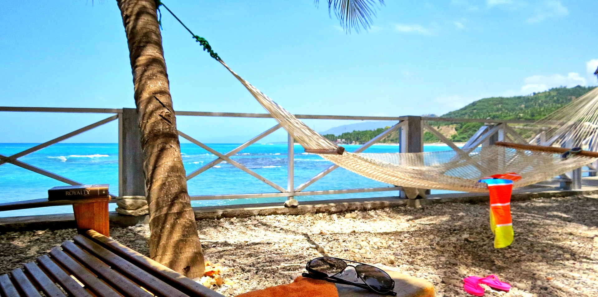 Lounge chair or hammock. Which will it be?