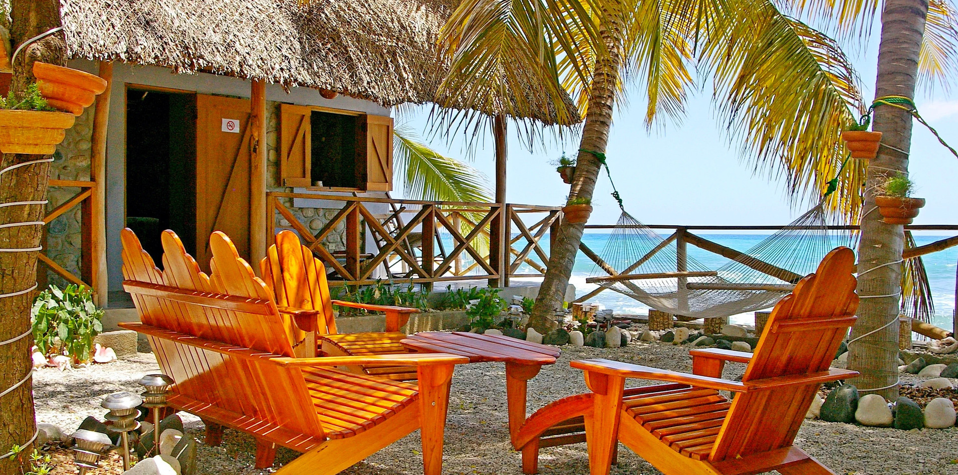 Seaside lounge just outside your room