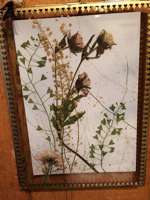 Wandbild Blüten und Blätter
