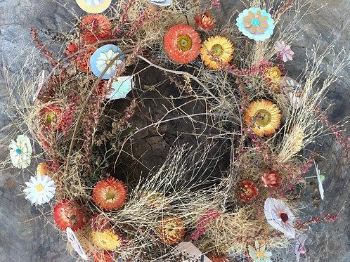 Tischkranz aus getrockneten Blumen