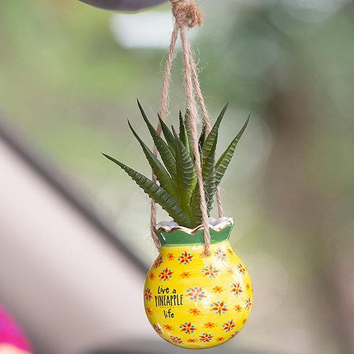 Mini Makramee Kaktus Pineapple