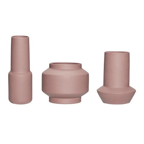 Hübsch Vase braun 3er Set
