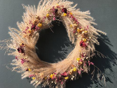 Kranz aus Trockenblumen gross