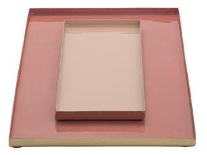 Tablett aus Metall 2er Set
