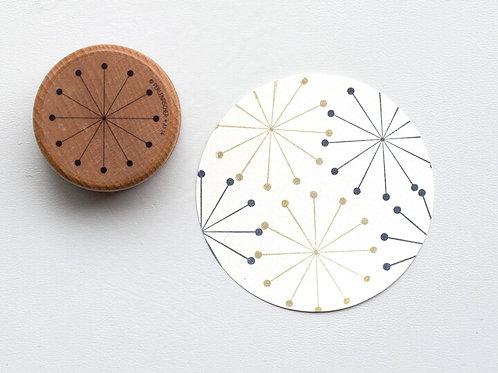 Stempel Stern mit Punkten