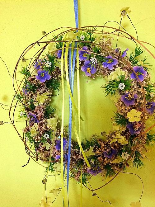 Kranz violett/grün/gelb