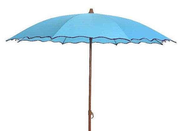 Sonnenschirm mit Wellenrand, 180 cm, türkis