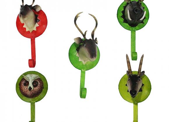 Waldtiere Kleiderhaken - 5 Tiere