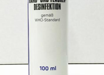 WHO Händedesinfektion, 100 ml Fläschchen
