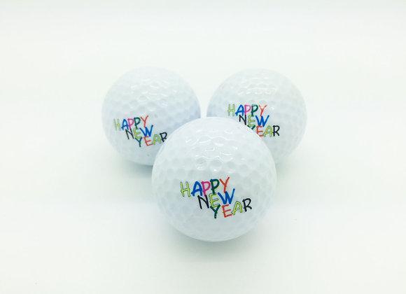 3 Golfbälle - Happy New Year
