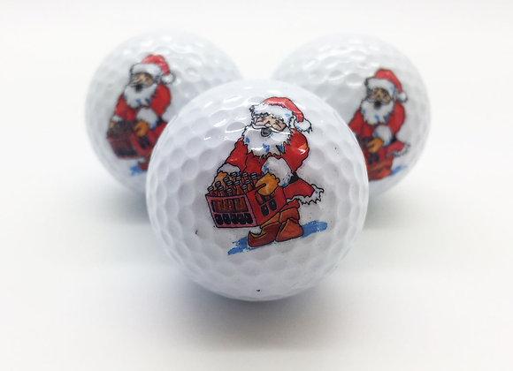 3 Golfbälle - Weihnachtsmann