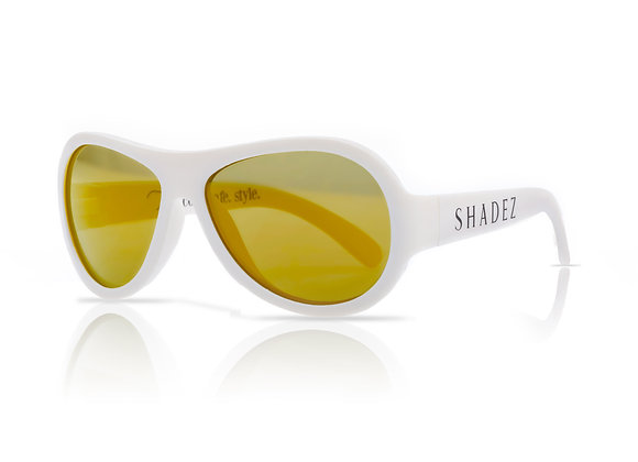 Shadez Kinder-Sonnenbrille weiß, 0-3 Jahre