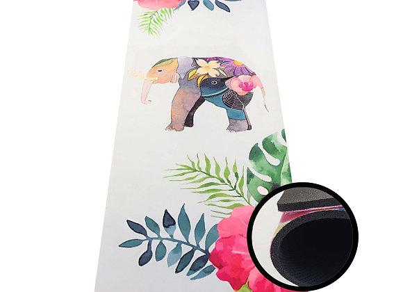 Yogamatte mit Elefantenmotiv, 173x45 cm extra dick