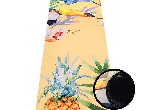Yogamatte mit Tukanmotiv, 173x45 cm extra dick