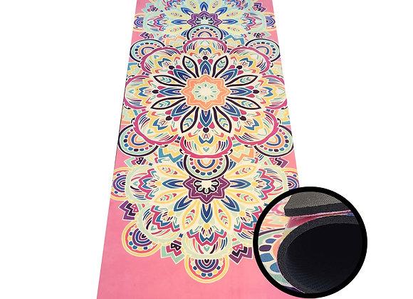 Yogamatte mit Mandalamotiv, 173x45 cm - extra dick