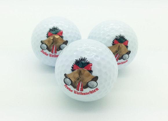 3 Golfbälle - Frohe Weihnachten