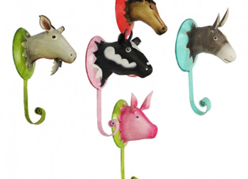 Kleiderhaken Bauernhof - 5 Tiere