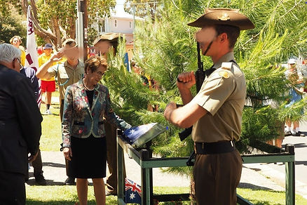 Governor of NSW with Fred Reynolds tree.