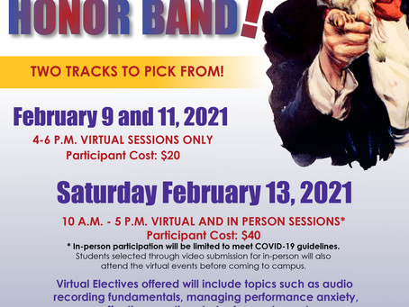 UWSP Honor Band February 2021