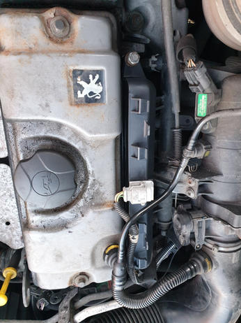 peugeot coil pack replaced