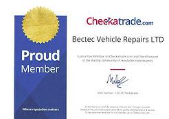 check a trade certificate