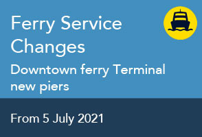 Changes to the Ferry service from 5 July