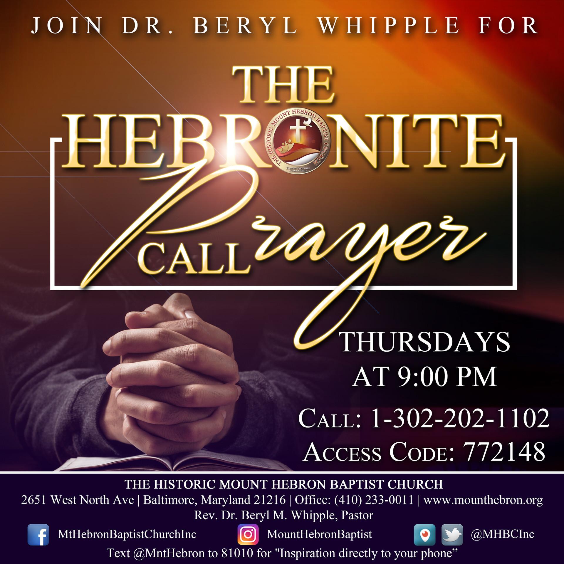 Hebronite Prayer Call.JPG