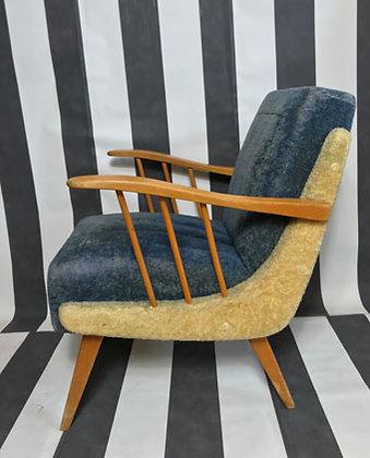 Sessel blau-beige