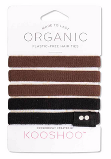 KOOSHOO  Plastic-Free Hair Ties- Black/Brown, AUD$19.95