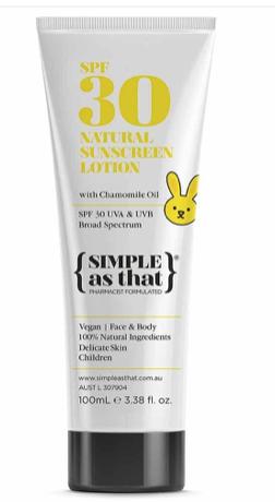 Sunscreen for Children SPF30, US$19.70