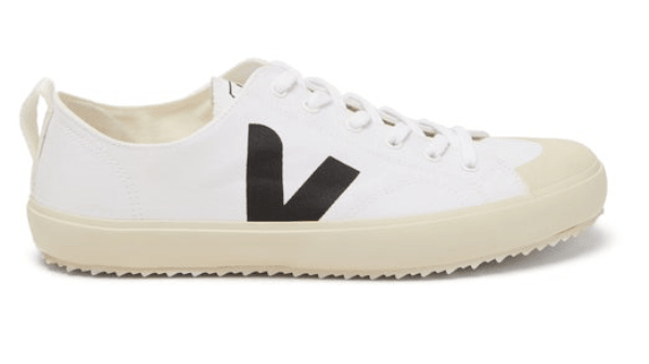 Veja Nova High-Top Canvas Sneaker in Black