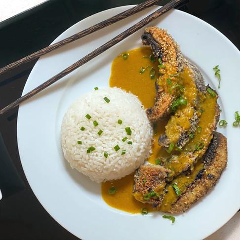 Recipe: Portobello Mushroom Katsu Curry With Rice