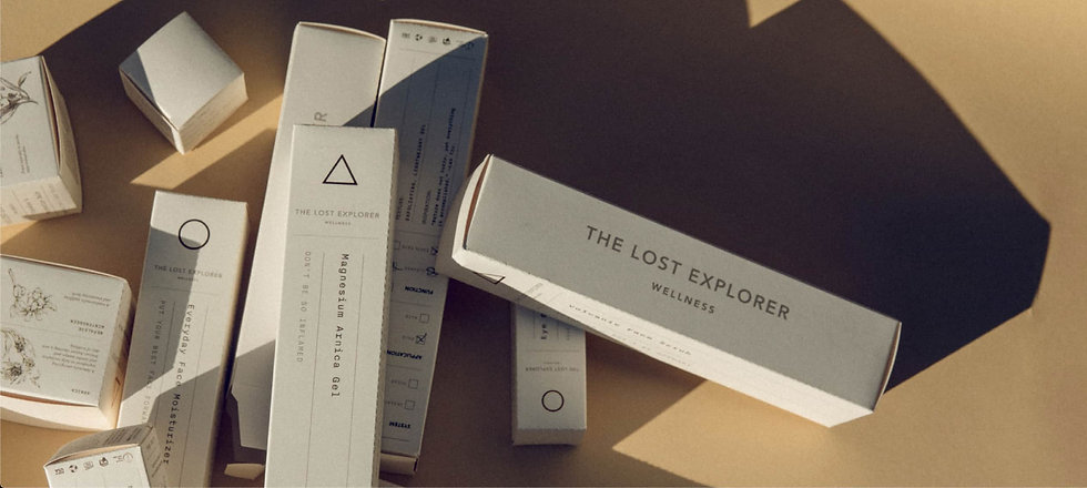 The Lost Explorer skincare products