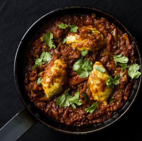 Recipe: Shakshuka With Coriander Dumplings