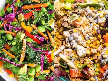 Quantos ingredientes colocam na vossa salada?