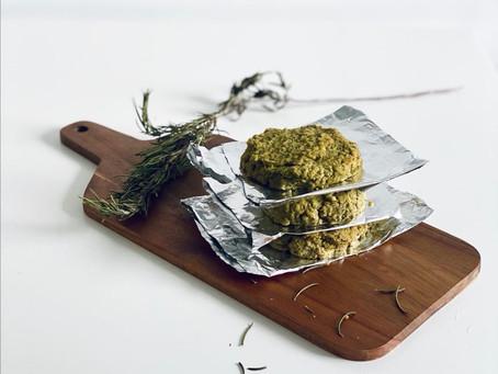 🥬 Hambúrguer de grão com manjericão e espinafres 🥬