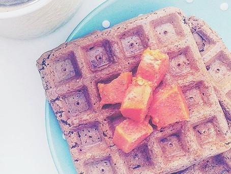 Waffles de Alfarroba
