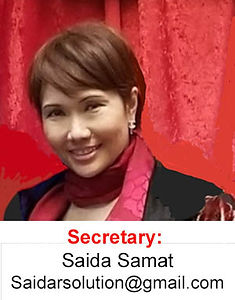 Saida Samat Secretary of the Malaysian Association of Southern California