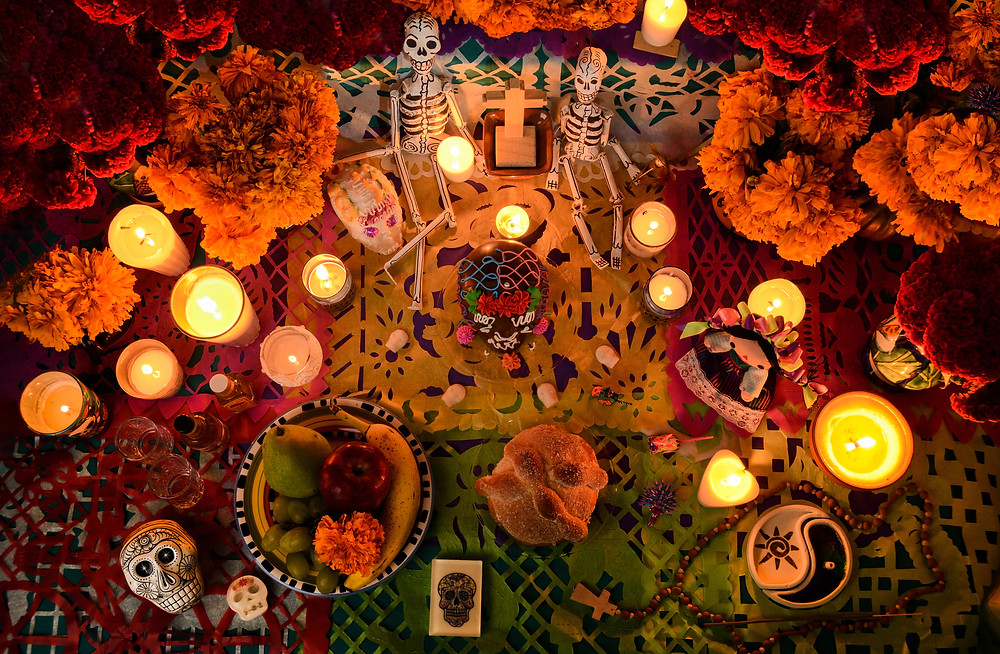 Everything on the ofrenda (offering) – as the altar is called – has its own meaning.
