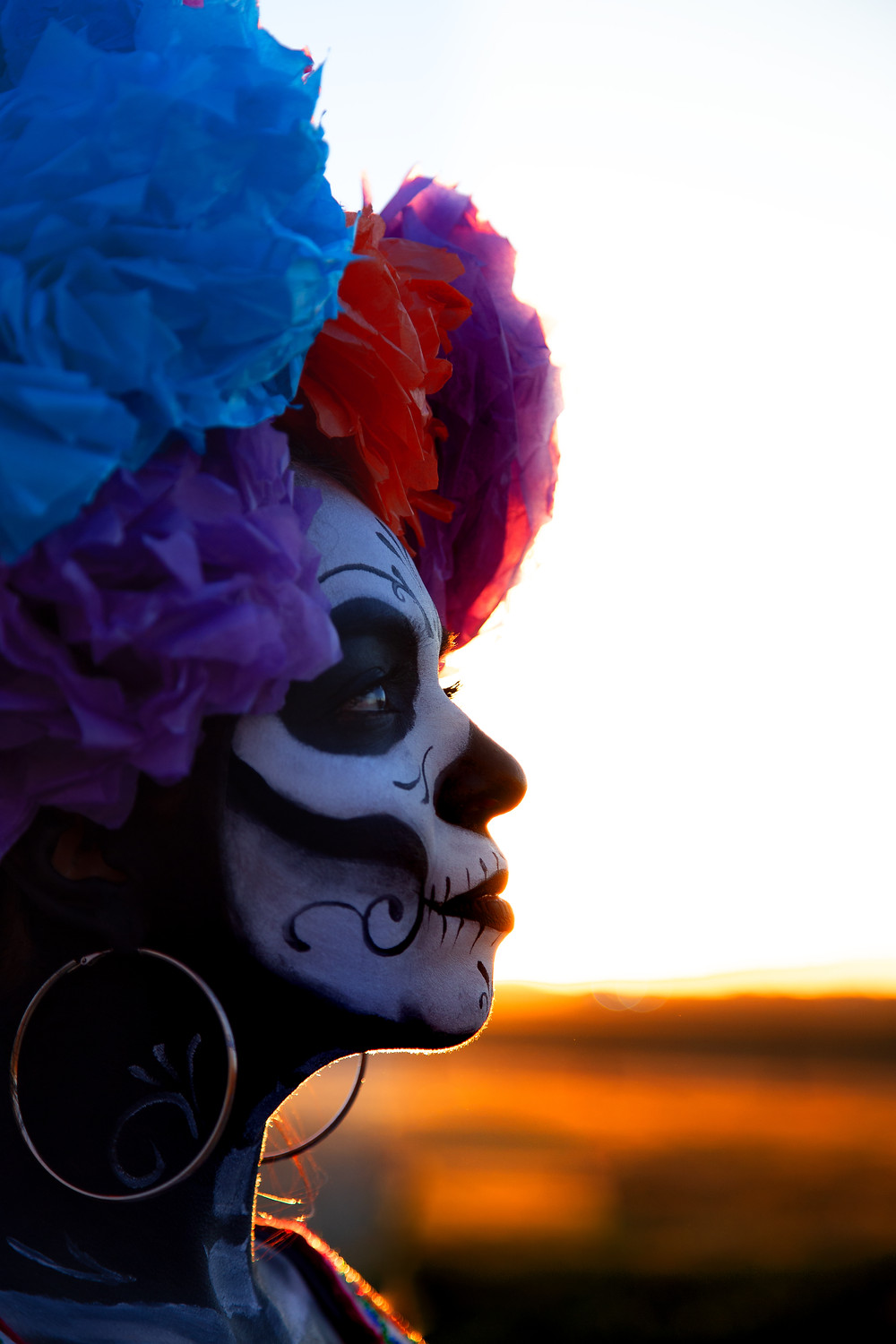 Model: Ereni Perez. La Catrina, a quintessential character of the traditional Day of the Dead festivity in Mexico, created by the mexican artist Jose Guadalupe Posadas, one of the latest pieces to be integrated during the early 1900's.