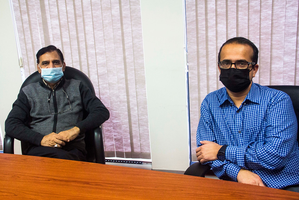 Mustafa Zahid and Suraj Khatiwada from Action for Healthy Communities