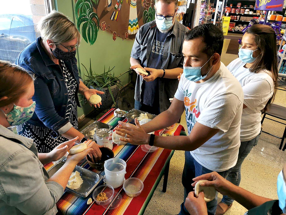 Tour Giveaway guests at Paraiso North learn how to make pupusas