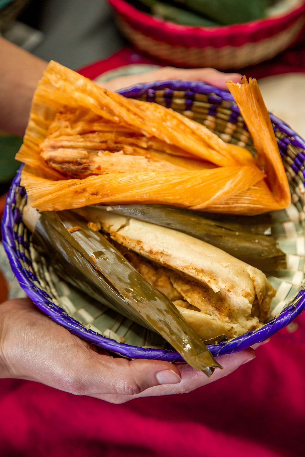 Salvadoran and Mexican tamales made in-house at Paraiso Tropical Latin Food Market.