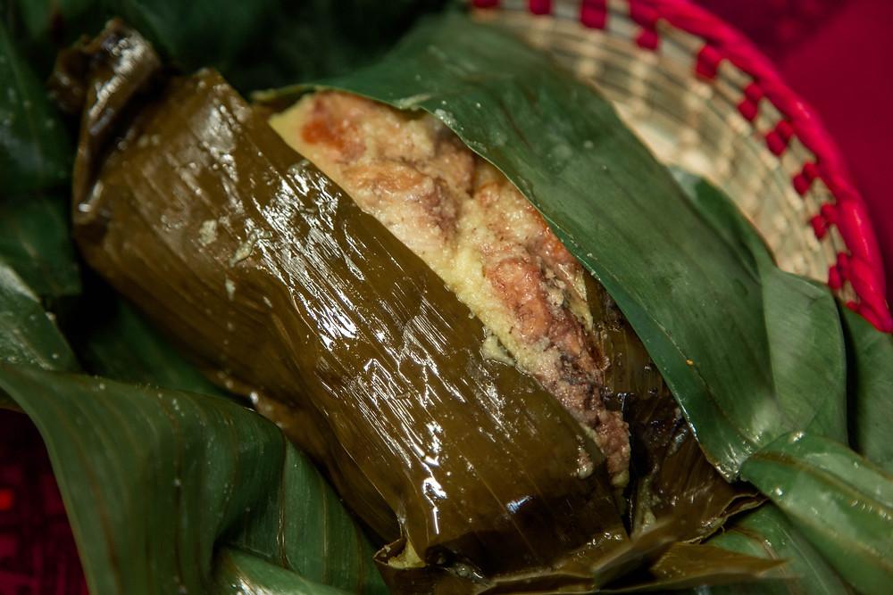 Paraiso Tropical's Colombian tamal (aka tamal antioqueño).